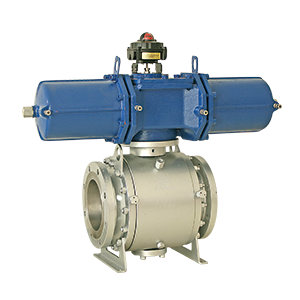 Pneumatic actuated trunnion mounted ball valve #600 MD-64