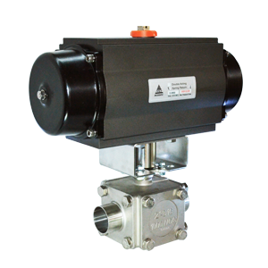 Pneumatic actuated sanitary ball valve 1000PSI SR-04EB