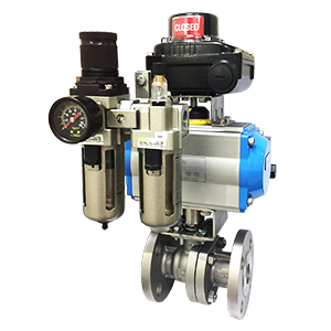 pneumatic actuated ball valve #150 DA-32